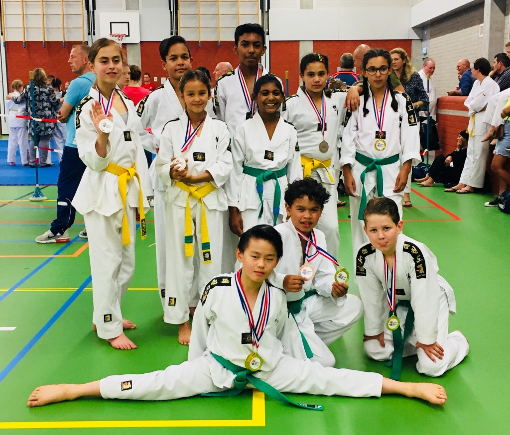 podiumplaats winnaars District West kampioenschap Taekwondo